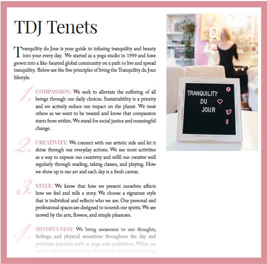 TDJ Tenets